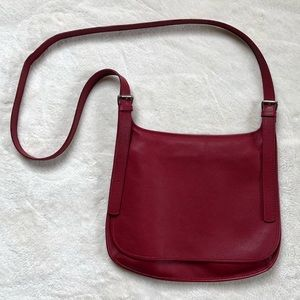 Vintage Red Crossbody Leather Purse